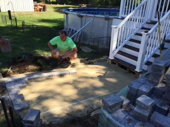 Salem, NH MA Deck Construction Paver Walkway