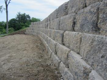 NH MA Retaining Wall