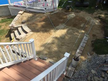 NH MA Paver Patio, Retaining Wall, Stairs & Seating Wall