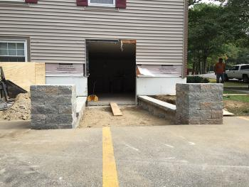 NH MA Wall Walk Paver Walkway Landscaping