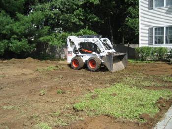 NH MA Irrigation System Sod Install