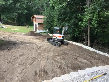 NH MA Lawn Redo Rip Rap Landscape Construction