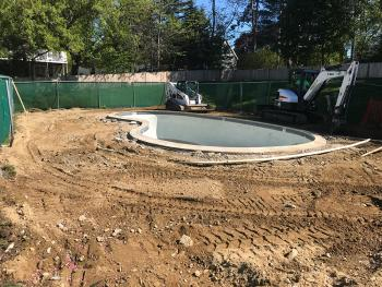 Salem, NH Pool Patio & Paver Walkway