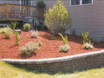 NH MA Front Backyard Landscaping Walls Walks Mulch