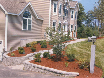 NH MA Front and Backyard Landscaping Mulch