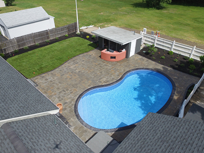 NH MA Paver Pool Patio & Landscaping