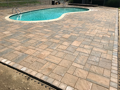 Salem, NH MA Pool Patio & Paver Walkway