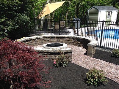 NH MA hardscape Walkways patios retaining walls